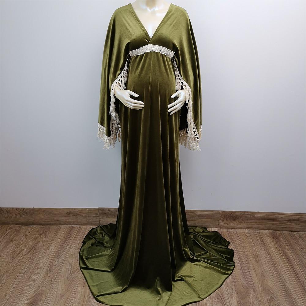 Don&Judy Velvet Maternity Dresses Gown for Photo Shoot Baby Shower Pregnancy Dress Party Evening Dresses 2021 New enlarge