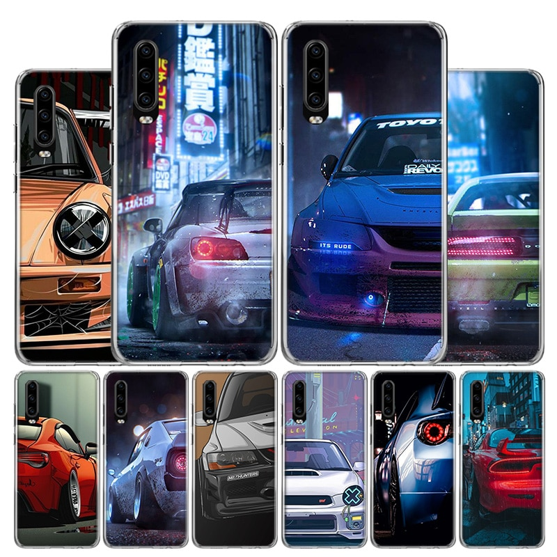 Hot JDM Japan Sport Car Cover Phone Case For Huawei P40 P30 P20 10 Mate 10 20 30 Lite Plus Pro P Smart Z + 2019 Popular Coque