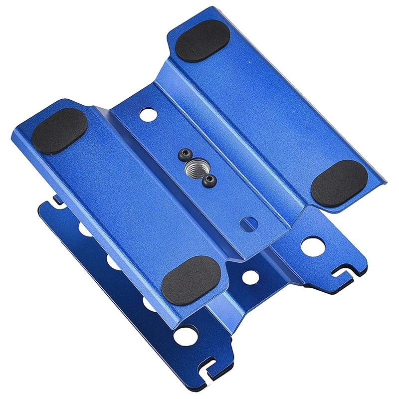 Metal Aluminum Rc Car Workstation Work Stand Repair 360 Degree Rotation for 1/8 1/10 1/12 Scale Model Titanium enlarge