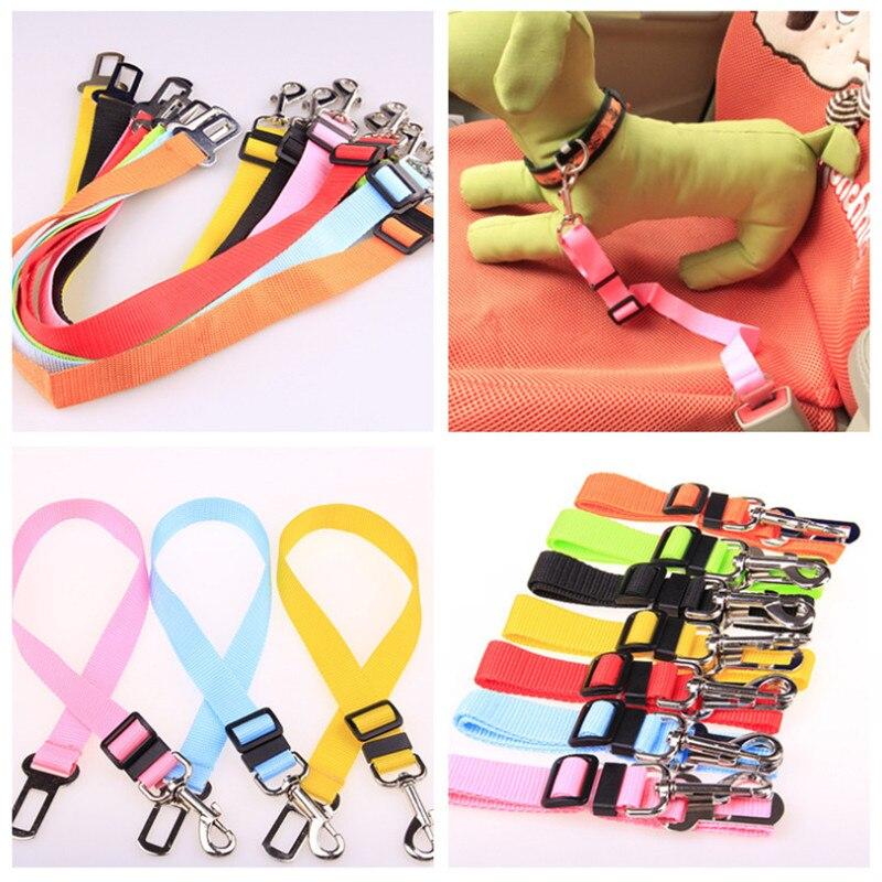 Pet Dog Cat Car Seat Belt Adjustable Harness Seatbelt Lead Leash for Small Medium Dogs Travel Clip Pet Supplies 4 Color