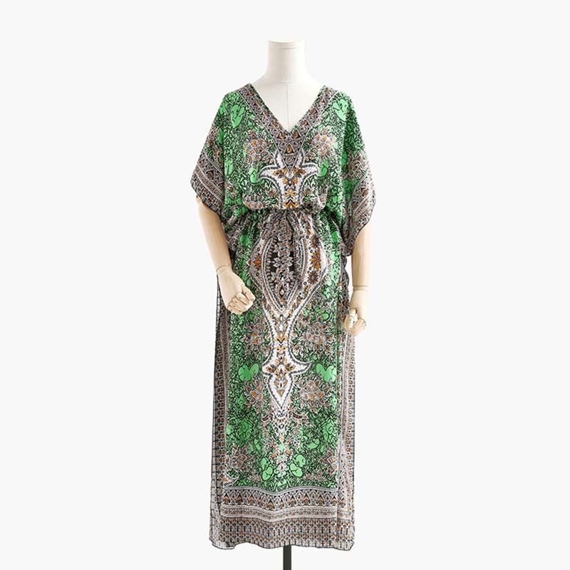 Bohemian Casual Loose Dress Boho Vintage Ethnic Style Long Maxi Women's Summer Dresses India Pakistan Clothing Beach Sunny Robe