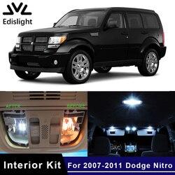 Светодиодные лампы Edislight, 8 шт., белые, ледяной синий цвет, автомобильная лампа canbus, внутренняя упаковка, комплект для 2007-2011 Dodge Nitro Map, купольная лампа для багажника