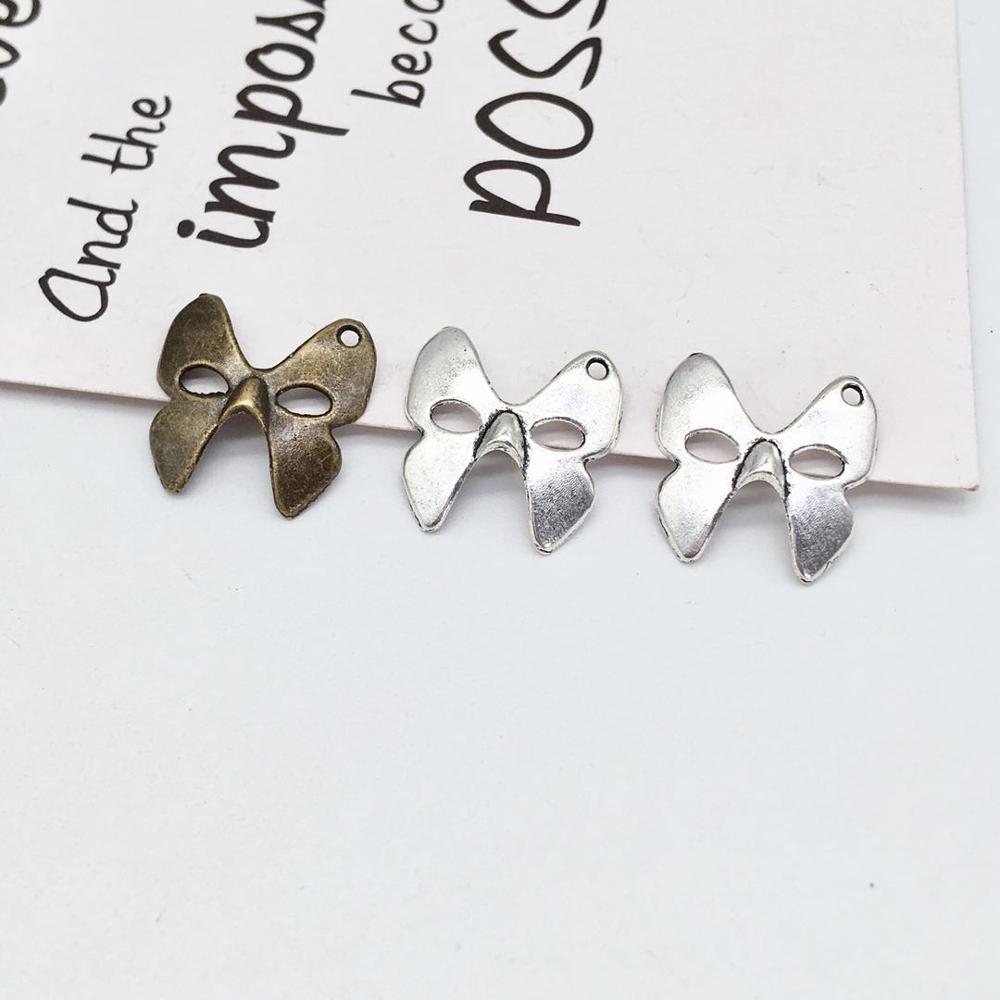 Mode 80 pièces masque breloques ajustement bricolage à la main homme femme collier souvenir trouver fabrication de bijoux