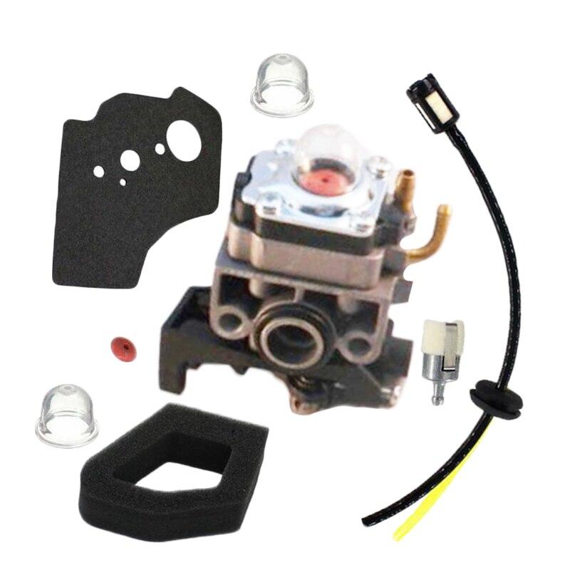 Kit de filtro de aire para carburador compatible con Honda GX25 GX35 UMS425 UMK425, Trimmers de cadena, junta de línea de combustible, Kit de filtro, Primer control de bombillas