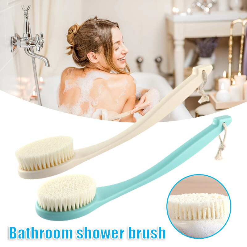 Shower Bath Body Brush Curved Long Handle Soft Bristles Gentle Exfoliation Skin Back Scrubber for Ki
