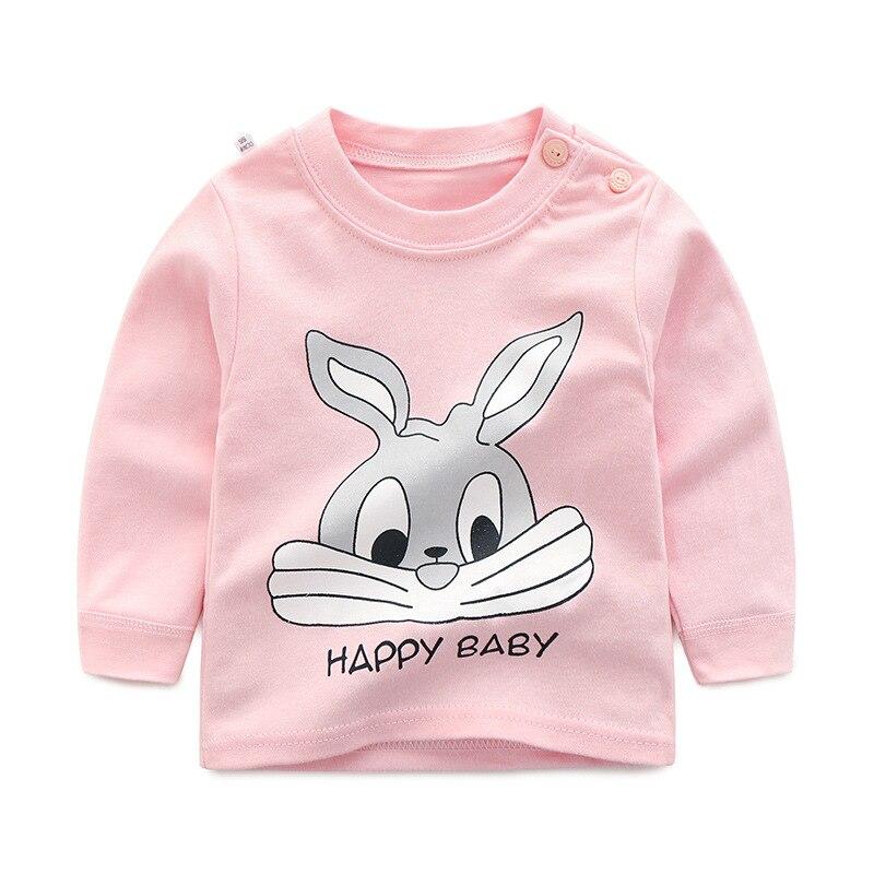 2020 nova primavera bebê meninas roupas topos dos desenhos animados coelho unicórnio manga longa menina t camisa crianças roupas camisas de algodão meninos t camisa