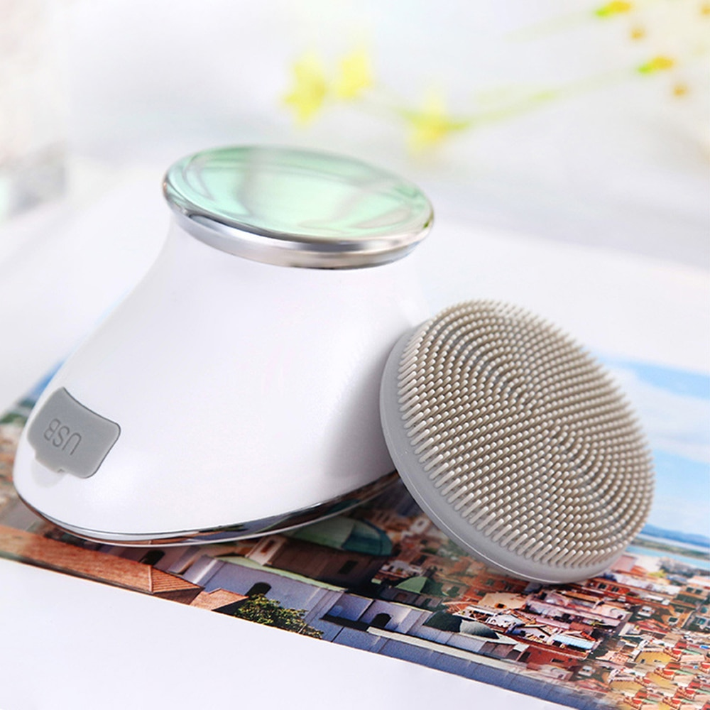 Sonic Face Brush Pore Cleaner Deep Cleaning Massager Skin Care Tool Electric Facial Cleansing Brushes Waterproof Massager
