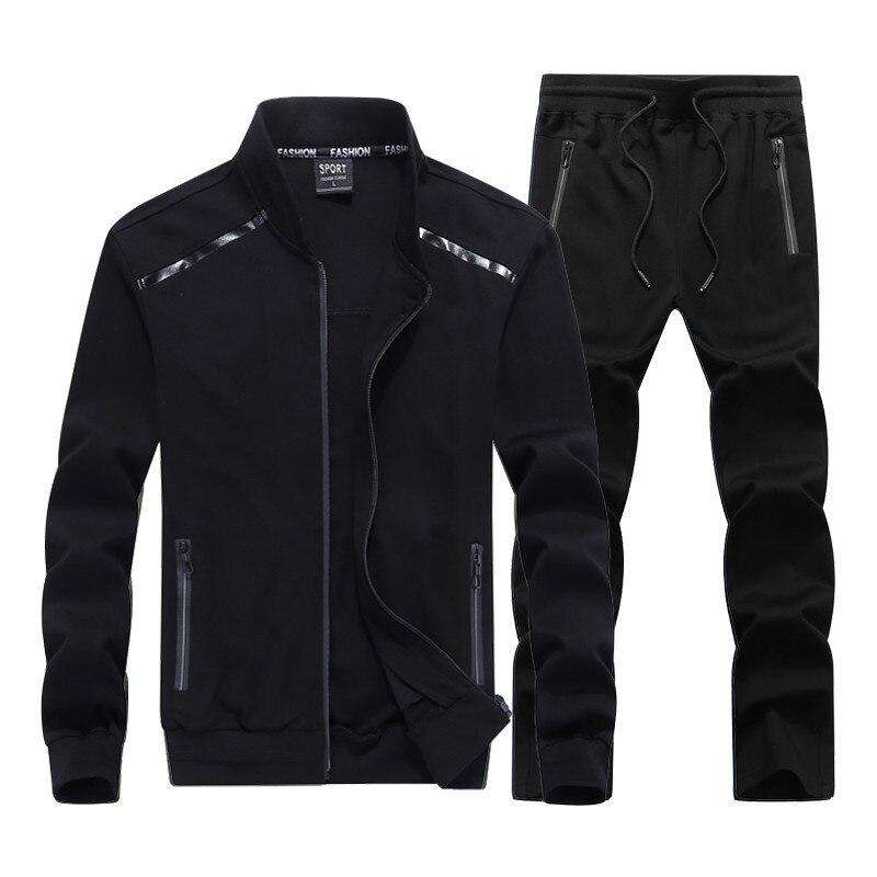 New Men's Tracksuits Male Sportswear Set Spring Autumn Casual Suits Jacket+Pants High Quality Plus Size L-9XL