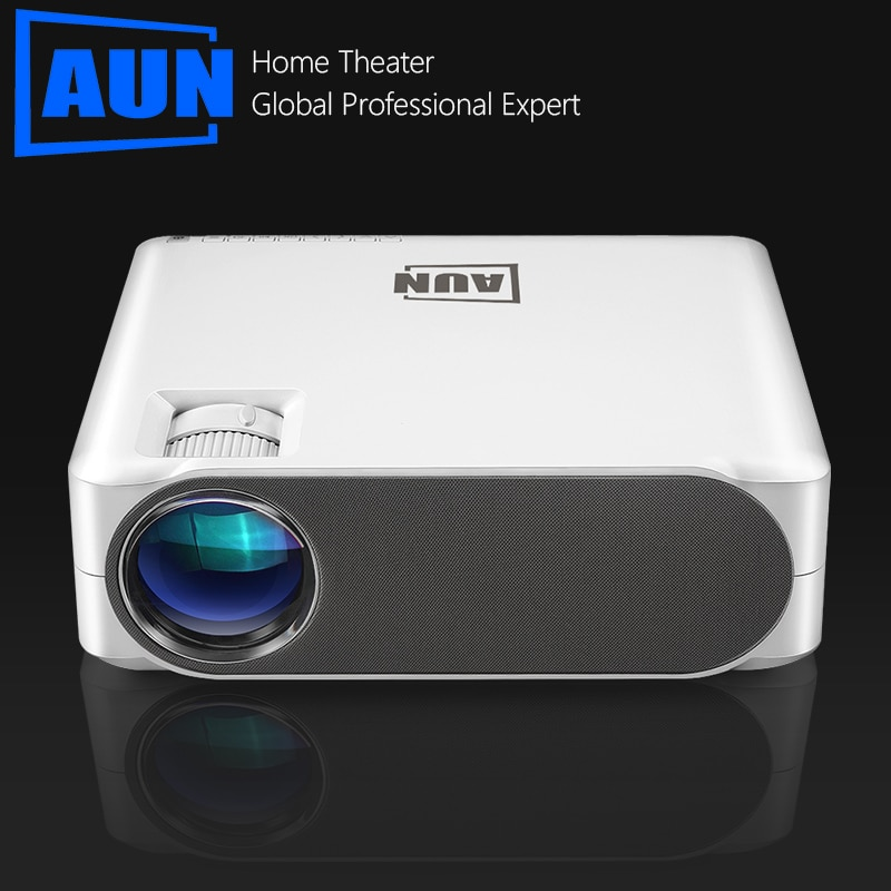 AUN Full HD Projector AKEY6 S, 6800 Lumens 1920x1080P Home Cinema Optional Android 6.0 WIFI VGA for GYM 4K Video Proyector