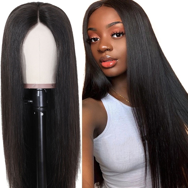 SuQ Women's Long Straight Wig Hair Synthetic Natural Cosplay Party Light Brown Heat Resistant Daily Fashion Wigs