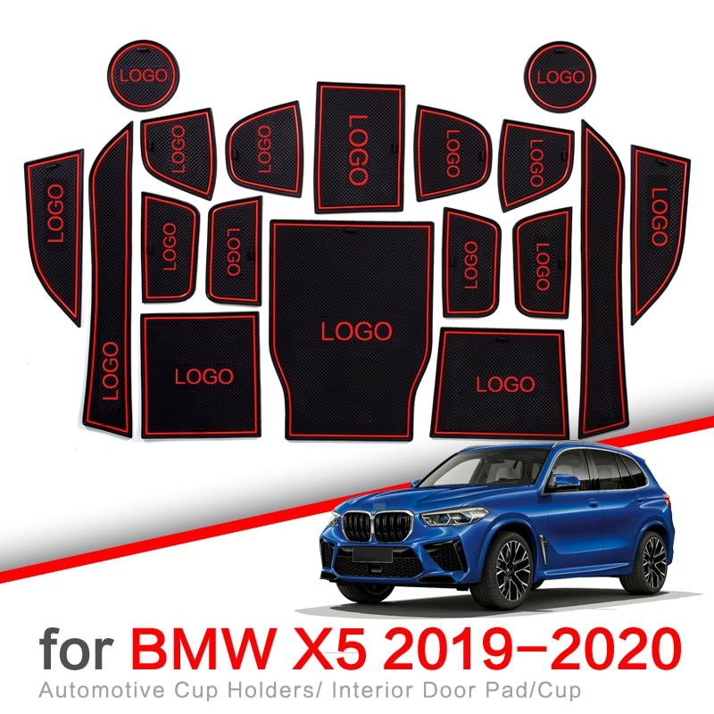 Anti-deslizamento porta entalhe copo esteira para bmw x5 2019 2020 g05 porta sulco antiderrapante almofada acessórios do carro adesivo