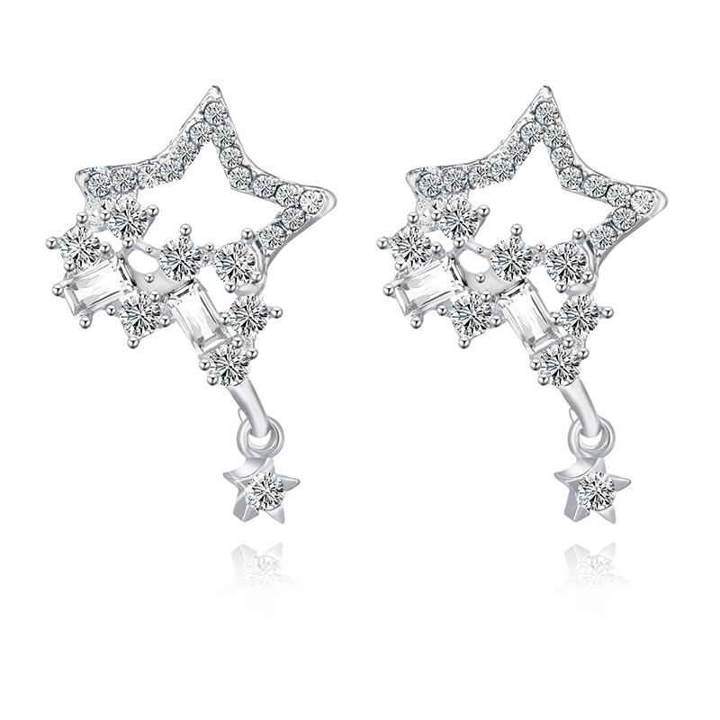 2021 de moda coreana encantos pendientes estrella de cristal pendientes para las...