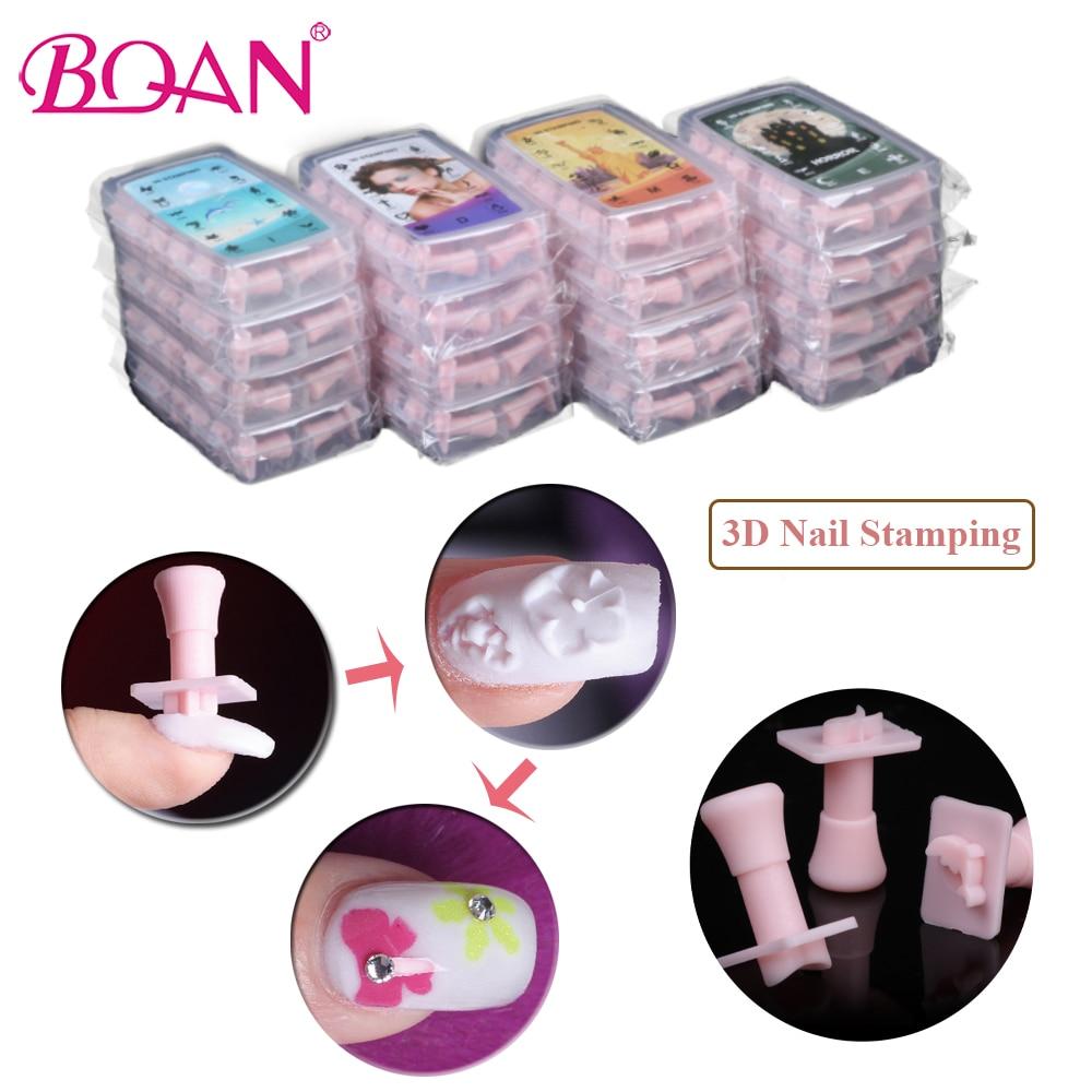 BQAN 192 Pcs 3D Nail Art Stamping Polishing Stamps Manicure Art Gel Polish Print Tool Multi Pattern Nail Plate DIY Stamper Tools