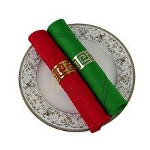6 pièces/lot rouge/vert 48*48cm carré Polyester hôtel Table Serviette pour la décoration de fête de noël saint-Patrick décor Serviette