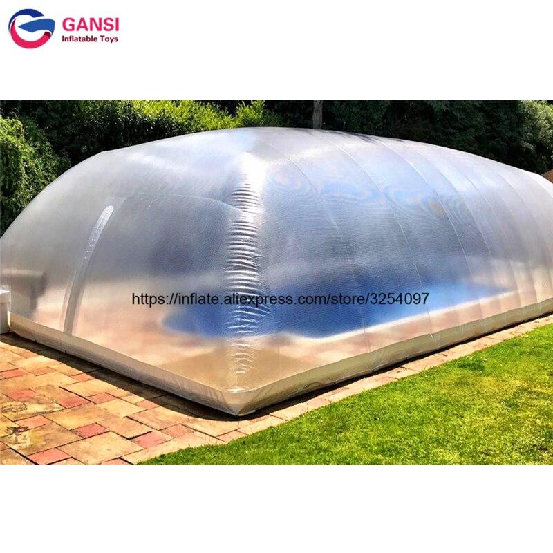 خيمة كبيرة على شكل قبة قابلة للنفخ ، غطاء حمام سباحة شفاف ، مقاوم للماء