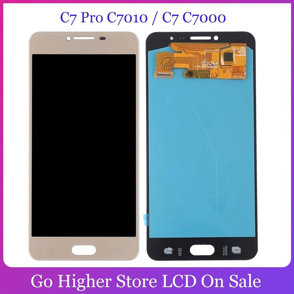Tft para samsung galaxy c7 pro c7010/c7 c7000 display lcd de toque digitador assembléia