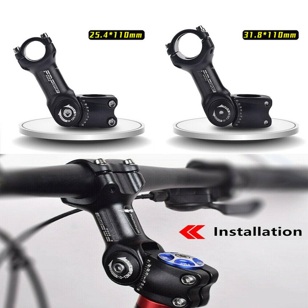 Vástago de bicicleta ajustable, vástago de elevador de manillar de bicicleta de aleación de aluminio MTB, extensor de manillar, piezas de repuesto 25,4/31,8*110mm