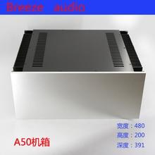 BRZHIFI A50 double radiateur boîtier en aluminium pour amplificateur de puissance classe A