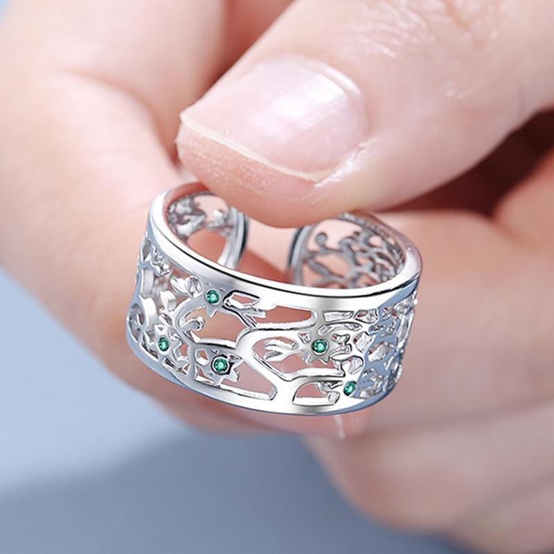 fanqieliu-Выдалбливают-925-пробы-Серебряное-кольцо-для-девочек-широкие-Винтаж-регулируемые-манжеты-с-украшением-в-виде-кристаллов-обручальные-к