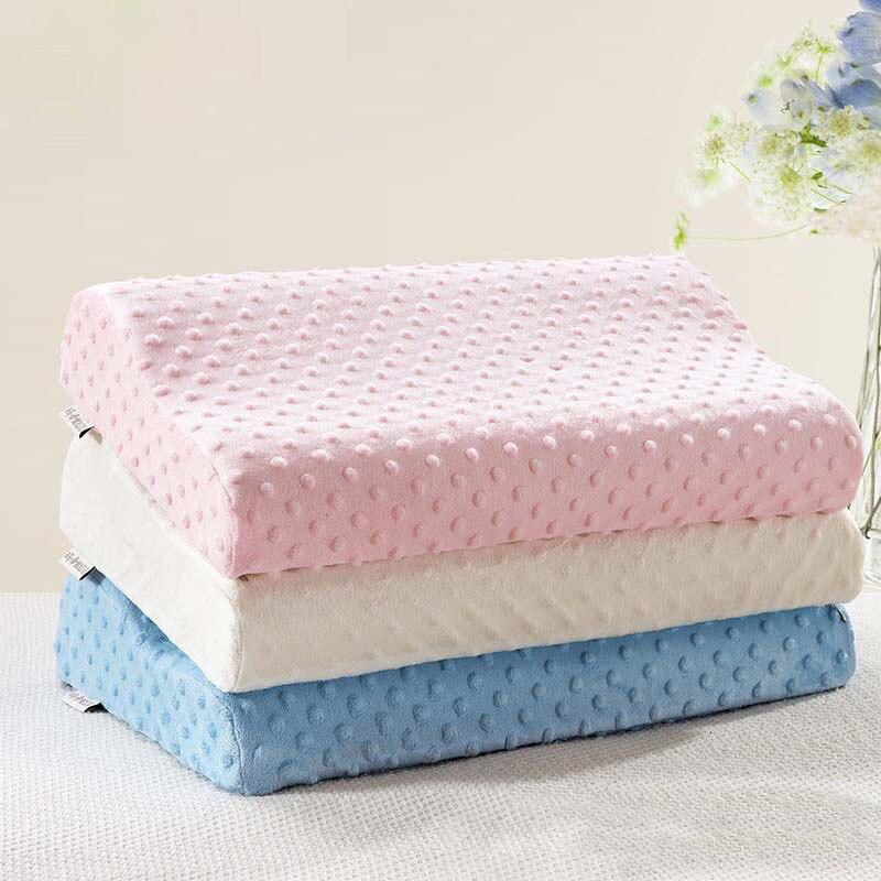 Almohada de espuma viscoelástica, almohada de protección del cuello para dormir de rebote lento, masajeador ortopédico para cuello, cojín para el cuidado de la salud Cervical