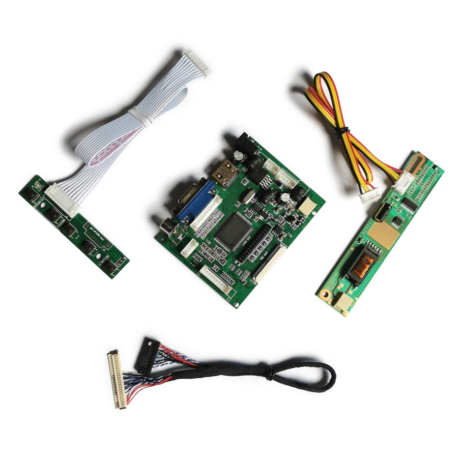 مجموعة شاشة LCD VGA AV ، 1024 × 768 ، 30 دبوس LVDS 1-CCFL ، متوافق مع HT14X19/HT14X1B/HT15X34/N150X4/IAXG15S ، لوحة تحكم العرض