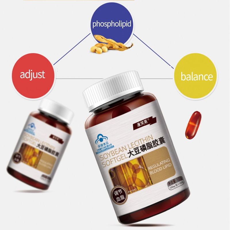 100% Natural Soy Lecithin Can Effectively Prevent and Treat Atherosclerosis Liver Disease Senile Dementia Soybean Phospholipids