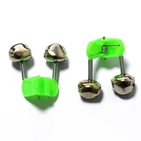 ppgun fishing rod bell rod 5pcslot fishing bite alarms clamp tip clip bells ring green abs fishing accessory outdoor metal