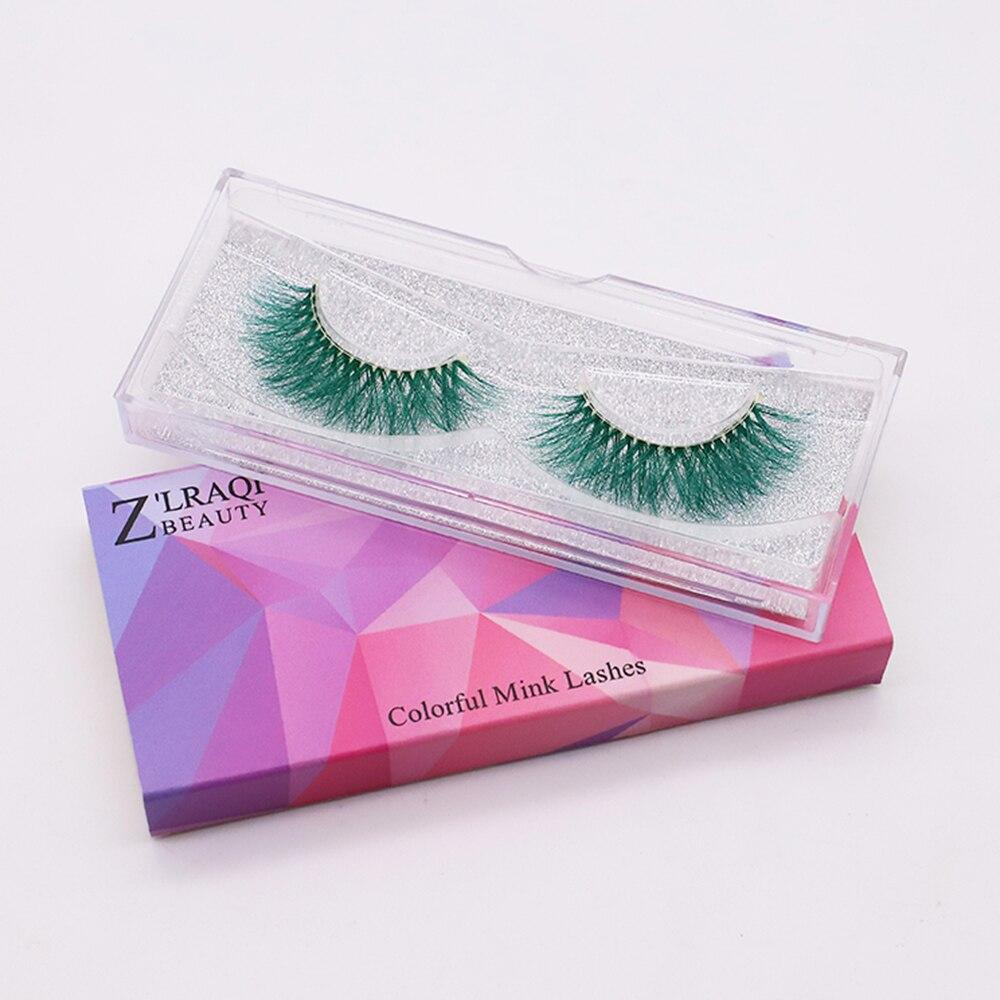 Colorful False Eyelashes Natural Style 100% Real 3D Mink Lashes fluffy  Eyelash Extension Makeup Too