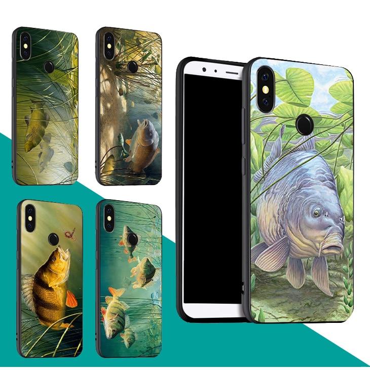Caja de pesca de carpa para Xiaomi Redmi Note 8T 8 7 9 Pro K30 9S 7A 8A Mi Note 10 A3 9T SE 10 Pro Max3 Mix3