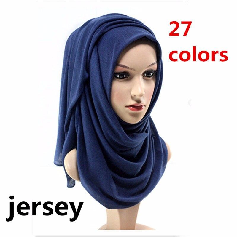 2019 Muslim Jersey Hijab Scarf Soft Shawl Headscarf foulard femme musulman Islam Clothing Arab Wrap Head Scarves hoofddoek jinjin qc 2019 new fashion women viscose scarf rose printed bandana jilbab instan muslim hijab jersey scarves foulard femme
