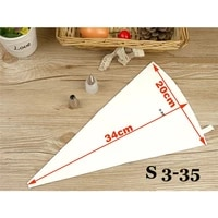 re useable cotton cloth fondant cake decorating pastry tips tool pastry bags cookie icing piping bag baking tool 3 sizes