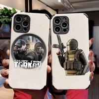 escape from tarkov phone case lambskin leatherfor iphone 12 11 8 7 6 xr x xs plus mini plus pro max shockproof