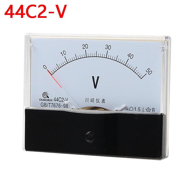 44c2 Вольтметр постоянного тока, аналоговый панельный указатель, Вольтметр постоянного тока 1 в 3 в 5 в 10 в 15 в 20 в 30 в 50 в 75 в 100 в 150 в 300 в 450 в 500 в