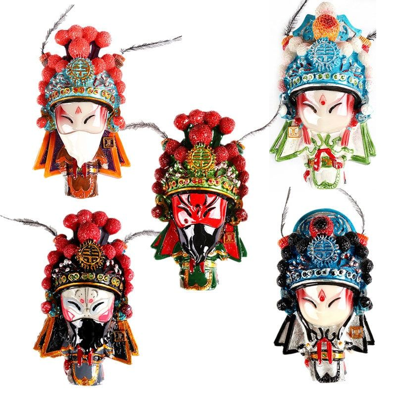 Beijing Opera, Opera, Fridge Magnet, Spring Face Makeup, Three-dimensional Gifts for Overseas Travel, Travel Souvenir Collection
