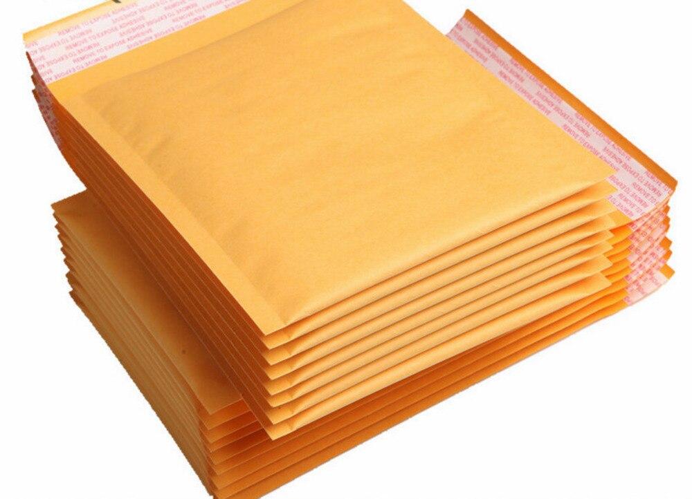 Большие конверты из пузырчатой бумаги для почтовых отправлений, конверты для почтовых отправлений, конверты с вкладышами, желтые крафтовые...