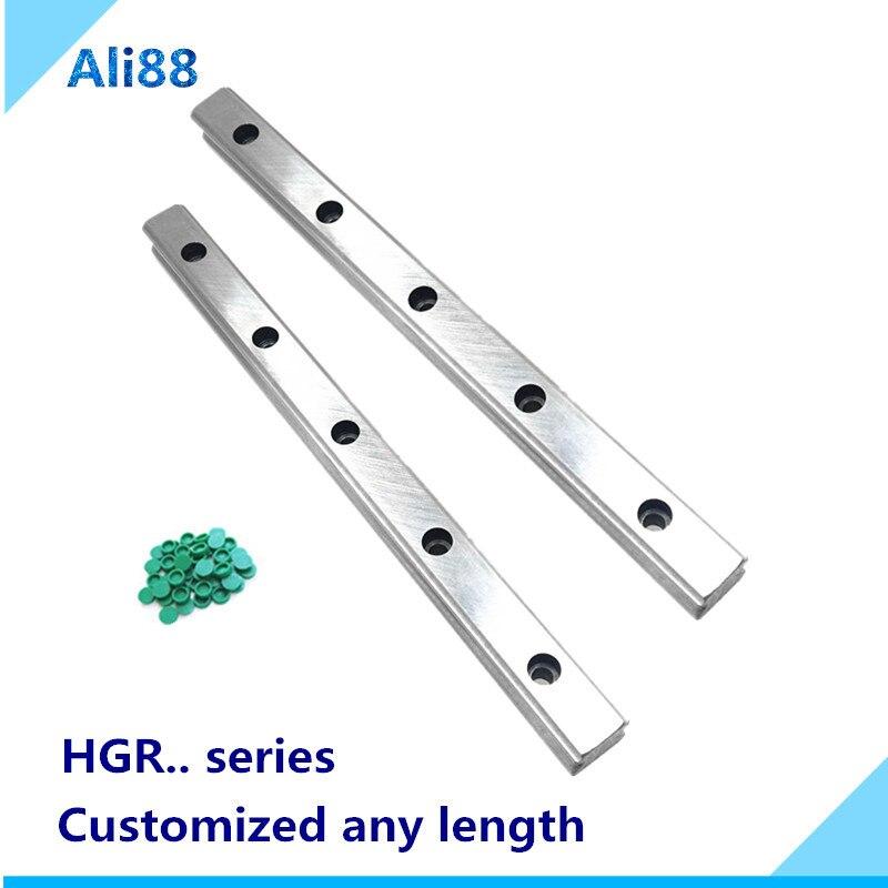 2 قطعة خطي السكك الحديدية HGR20 /HGR15/HGR25/HGR30/HGR35/HGR45 الخطي المسار يمكن استخدامها مع HIWIN المنزلق عربة الخطي بلوك cnc السكك الحديدية