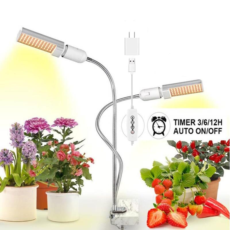 LED تنمو ضوء 45 واط 88 المصابيح 5 فولت usb أشعة الشمس الطيف الكامل ل داخلي زهرة النبات الشتلات توقيت تنمو مصباح phytolamp مع المكونات