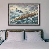 T119     peinture classique retro 41 operations de vol davion de guerre  affiche en soie personnalisee  decoration murale  cadeau de noel