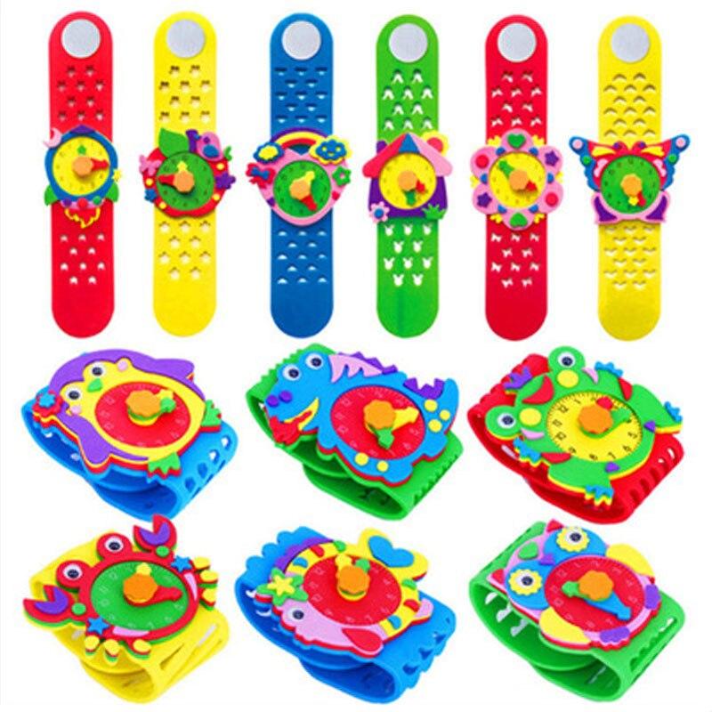 Детские часы из вспененного этилвинилацетата, детские игрушки ручной работы, Развивающие детские часы Knut, детские часы
