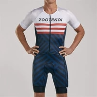 zootekoi men cycling skinsuit triathlon short sleeve speed trisuit maillot ciclismo running sportswear the new 2021 racing suit