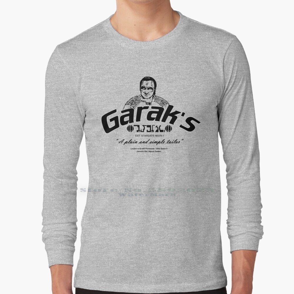 Garak plain a simples e simples tailorshirt camisa de manga longa t 100% puro algodão tamanho grande sci fi geek gaming nerdy ds9