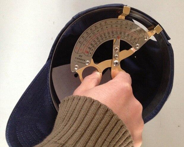 3 tamaño 49 CM-62 CM 42 CM-52 CM 55CM-68CMM herramienta de medición de tamaño del sombrero de la brújula del estilo de la tijera de bronce