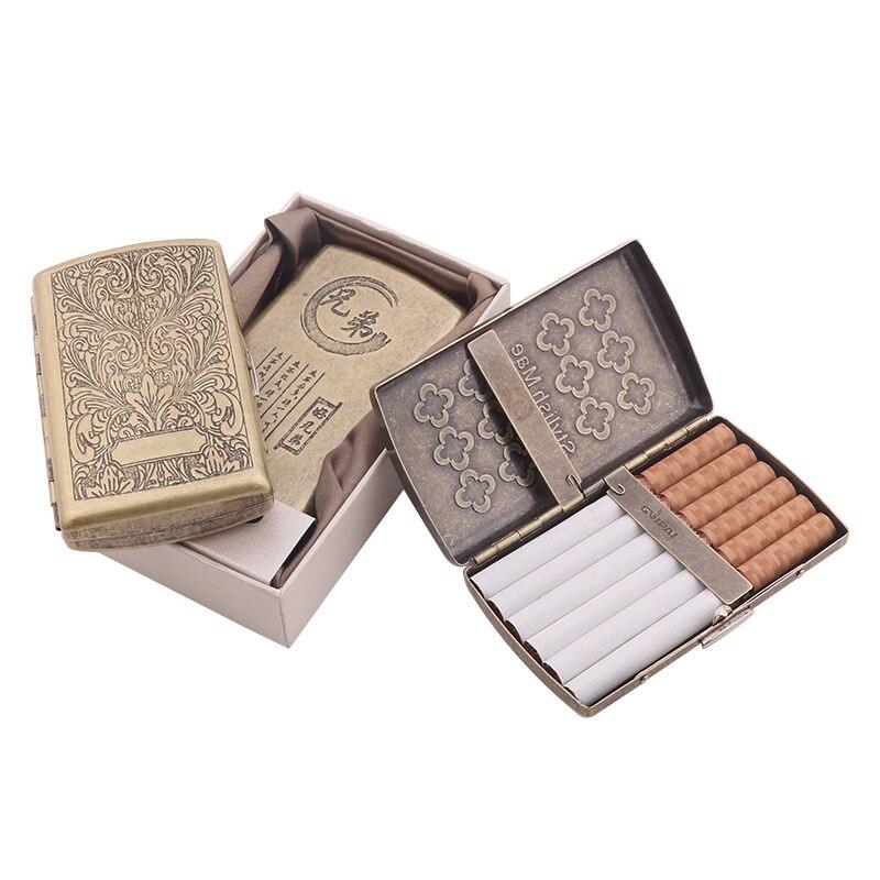 Contenedor de 12 uds, caja de cigarrillos, caja de cigarrillos para fumar con dos clips, caja de bolsillo para guardar tabaco con caja de regalo, regalo perfecto