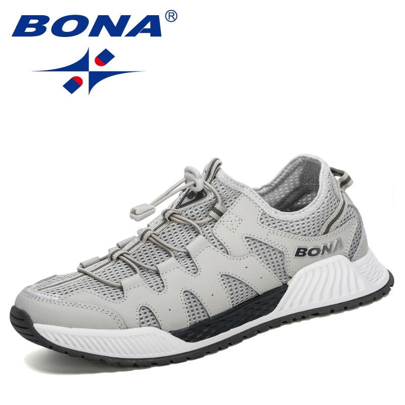 BONA, 2020, nuevos diseñadores deportivos de correr de malla para hombre, 46 zapatillas de talla grande, caminar, trotar, zapatos informales para hombre, ropa deportiva de moda