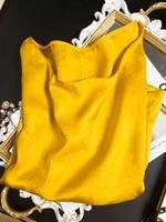 luxurious gold temperament heavy silk silk round neck jacquard satin short sleeve t shirt