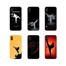 Suave transparente cubre casos kung fu taekwondo karate para Apple iPhone X XR XS 11Pro MAX 4S 5S 5C SE 6 6S 7 7 Plus ipod touch 5 6
