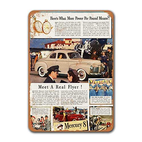 Коллекция 1941, Mercury, 8 автомобилей, кофейный клуб, ресторан, домашняя модель, винтажные автомобильные оловянные знаки, металлическая пещера дл...