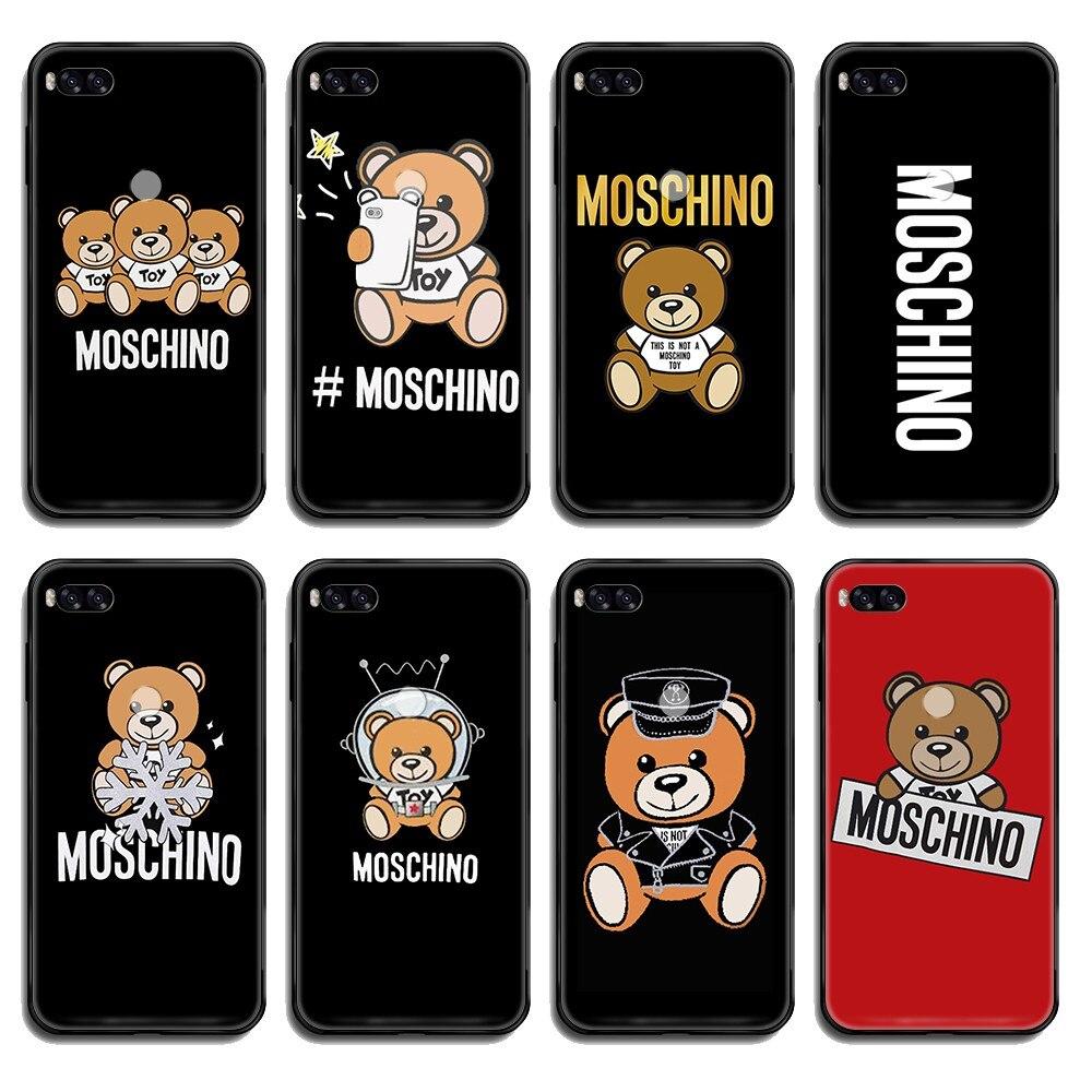 Carcasa de lujo italiana de la marca Little bear, carcasa negra para teléfono, carcasa para Xiaomi Redmi Mi Note 3 5 6 8 9 A1 2 Max3 Mix2 X SE Lite Pro