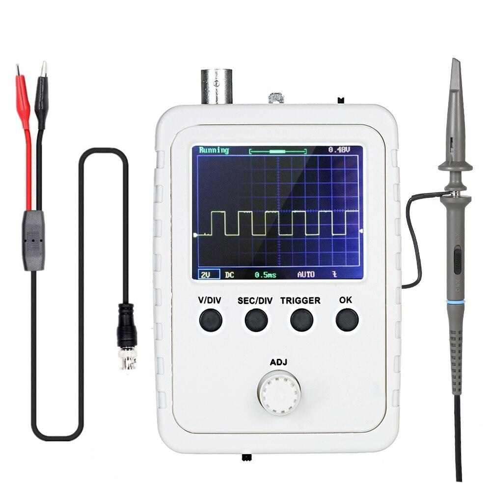 Портативный цифровой мини-Осциллограф KKmoon, 2,4 дюйма, комплект логического анализатора с адаптером питания и зажимом BNC, зонд с кабелем