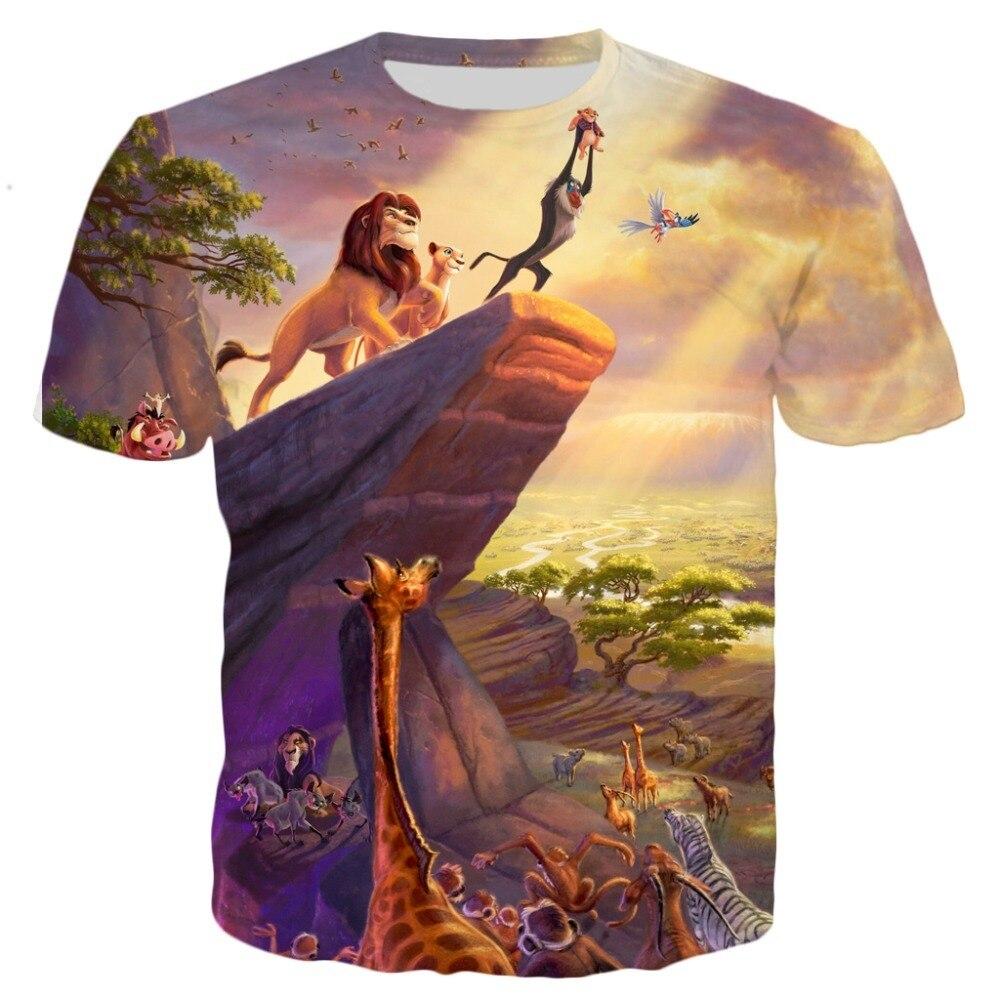 NOVEDAD DE VERANO 2020, camiseta a la moda para hombre, Camiseta con estampado 3D del Rey León Pumba, camiseta informal guay para hombre y mujer